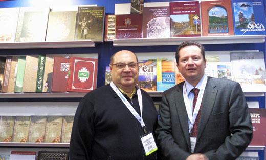 Александр Лысенко с канадским издателем Робертом Морганом